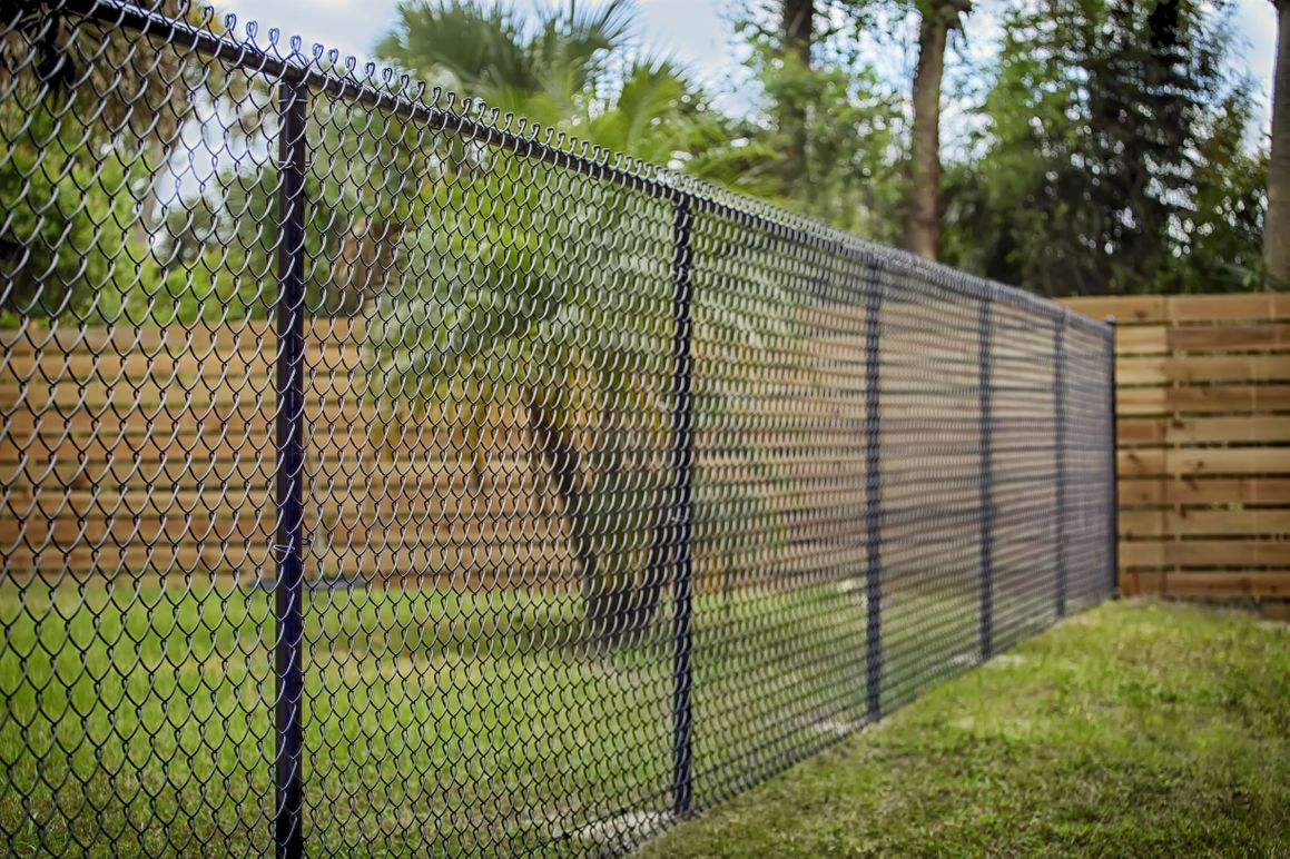 chain-link security fencing